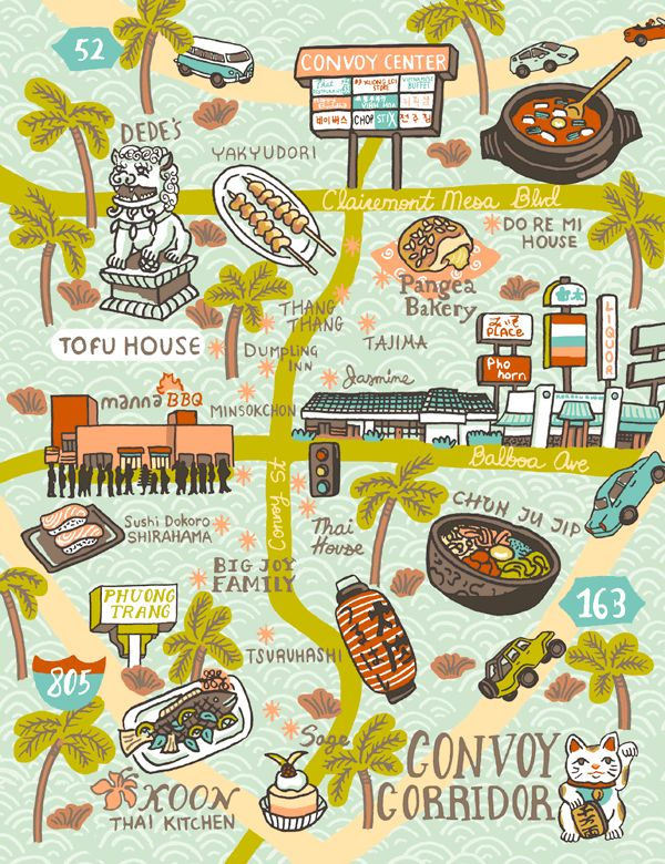 12 best map images on Pinterest Illustrated maps Food map and