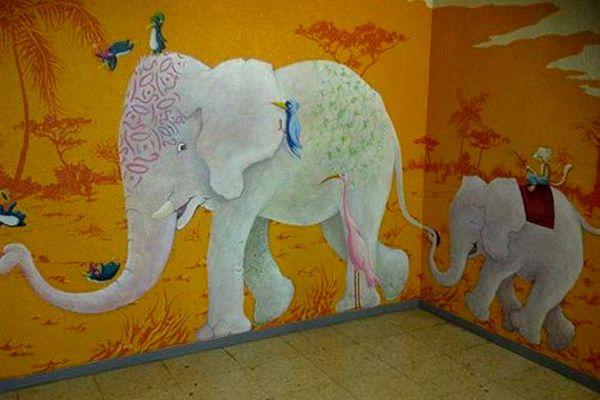 Ilustracion del Hospital Infantil de La Paz en Madrid