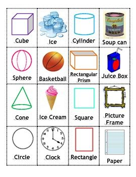 Play memory and learn solid and plane shapes at the same time! Match the solid or plane shape with a real life item that is the same shape. The pla...