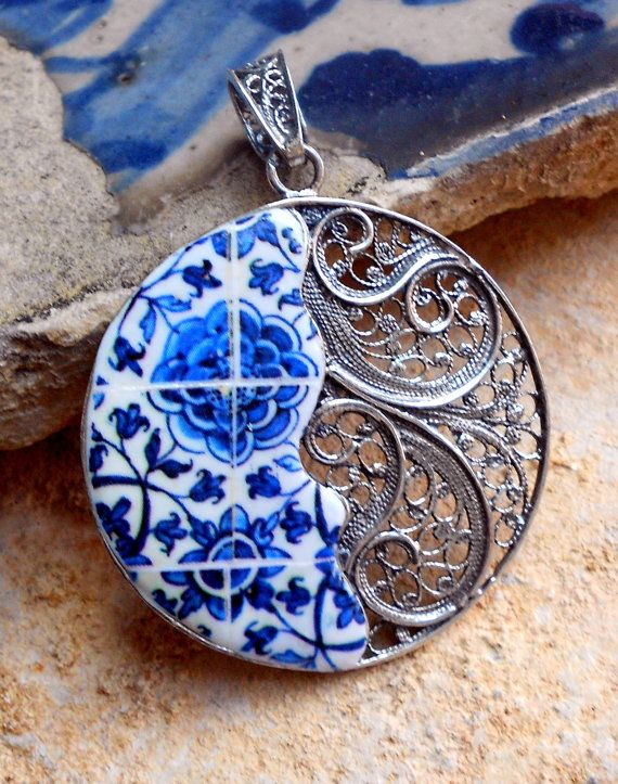 Portugal Sterling Silver FiLIGREE PENDANT from Tomar by Atrio