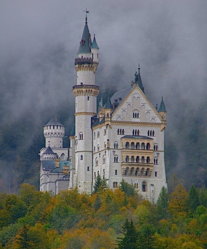Neuschwanstein Castle Germany Architecture Past