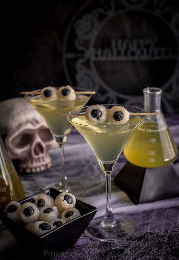 Halloween is the perfect holiday for these creepy eyeball martinis