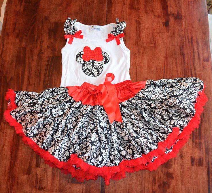 Kirei Sui Custom Boutique Resell Disney Mickey Petti Skirt Set Outfit 6/7/8 #CustomizedPersonalized #DressyEverydayHoliday