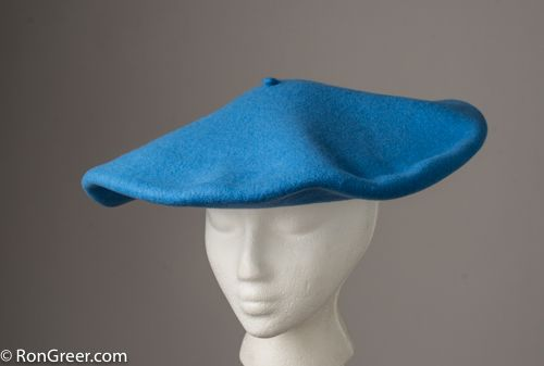 Just arrived, the 14.5 inch Txapeldun Spanish Basque Beret in light blue, by Elosegui of Tolosa, Spain.  This a custom order I placed, limited availability; order now: http://www.rongreer.net/product/14-5-inch-38cm-txapeldun-unb/