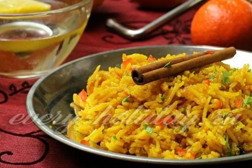 Ароматный рис с имбирем и апельсином