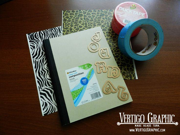 Making an Easy Summer Craft Idea Journal using Duck Brand Duct Tape - Vertigo Graphic Project http://vertigographic.com/TurnHeads/projects-and-blog/2012/07/summer-craft-idea-using-journals-and-duct-tape/#