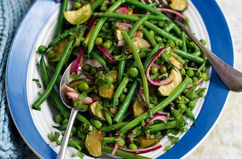 Green beans, courgette and pea tumble #Tesco