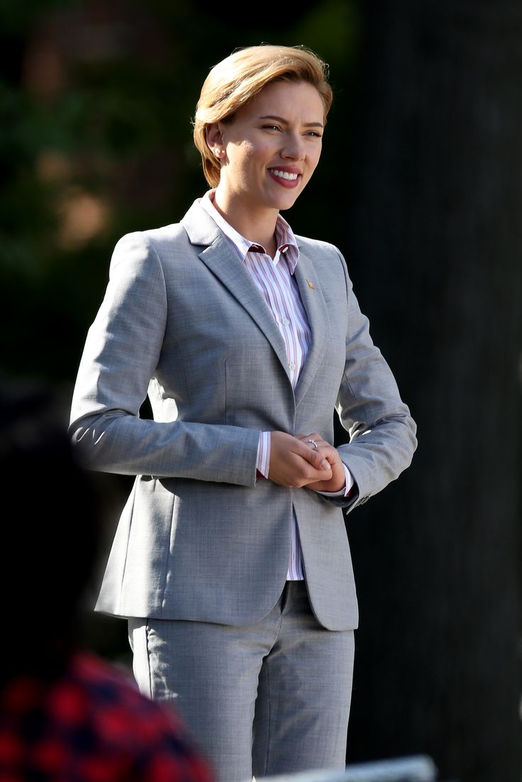 Scarlett Johansson looking very gentlemanly For more visit: www.charmingdamsels.tk
