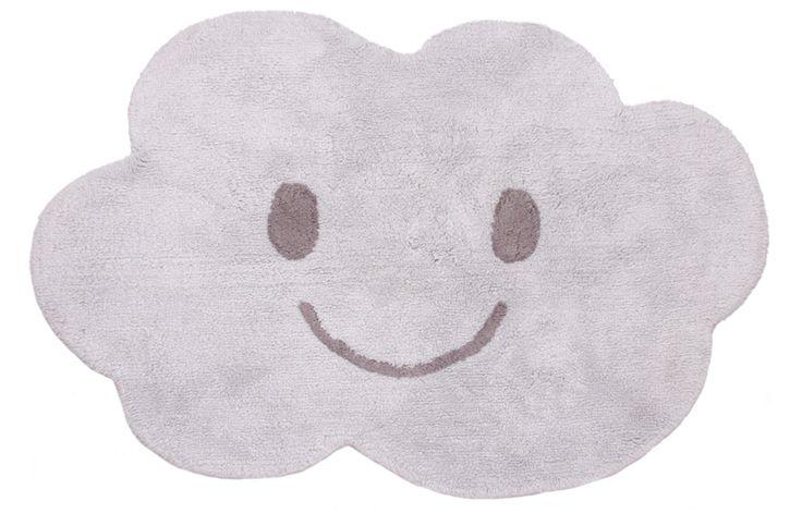Nattiot Waschbarer Kinderteppich 'Wolke Nimbus' grau 115x75cm bei Fantasyroom online kaufen