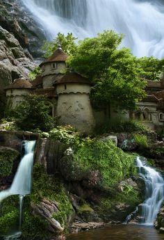 Waterfall Castle,Poland