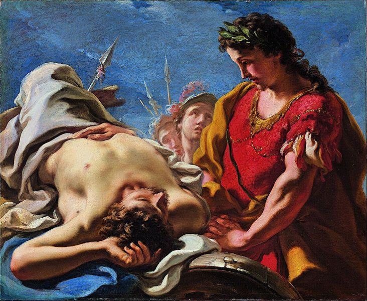Giovanni Antonio Pellegrini - Alexander at the Corpse of the Dead Darius - Google Art Project.