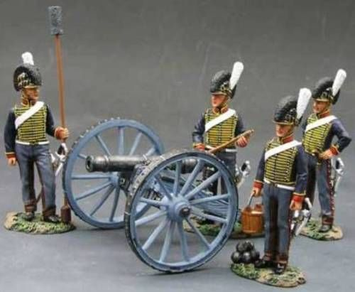 Napoleonic British Army NA098 Royal Horse Artillery Gun set - Made by King and Country Military Miniatures and Models. Factory made, hand assembled, painted and boxed in a padded decorative box. Excellent gift for the enthusiast.