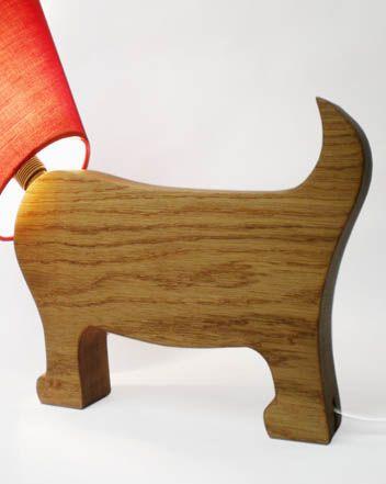 Dog Lamp Oak