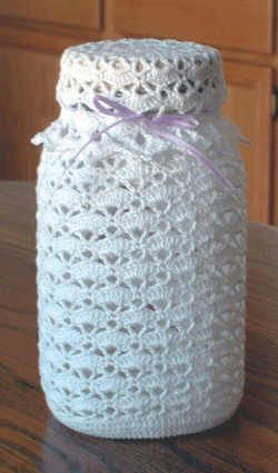◇◆◇ Free Crochet Patterns to Download | Crochet Patterns - Crochet Kitchen Patterns - Crochet Lacy Fruit Jar ...
