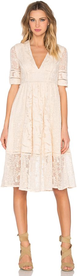 Free People Laurel Lace Dress, spring, Easter dress, v-neck, empire waist, boho, bohemian, gypsy, feminine