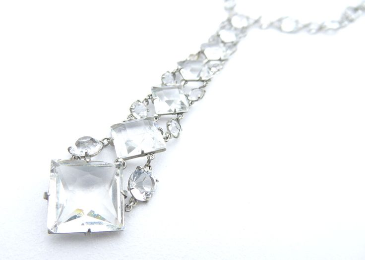Art Deco Platinon Necklace tonialauren.com