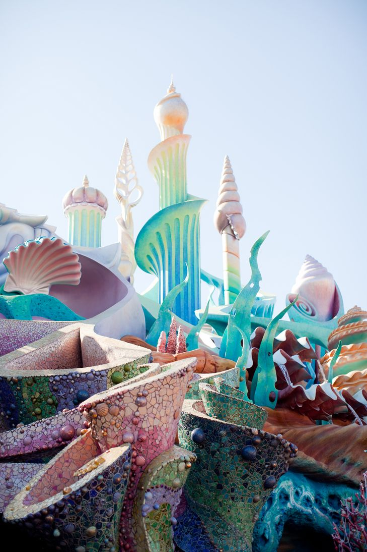 If I get a chance I'm escaping to Tokyo Disneyland this is a perfect place to be a mermaid x