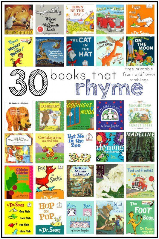 best rhyming books for children - Wildflower Ramblings