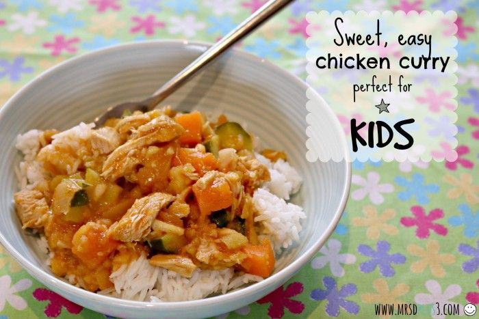 Sweet, Easy Chicken Curry for Kids