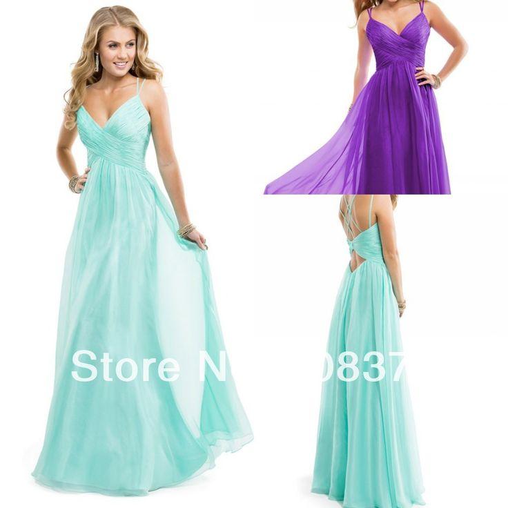 Mousseline robe fourreau avec criss- repassé concours. robe de bal spaghetti strap pour adolescent p5891 menthe violet. passion, rose chaud