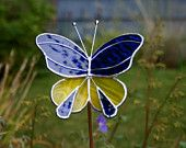 Stained Glass Butterfly Garden Ornament
