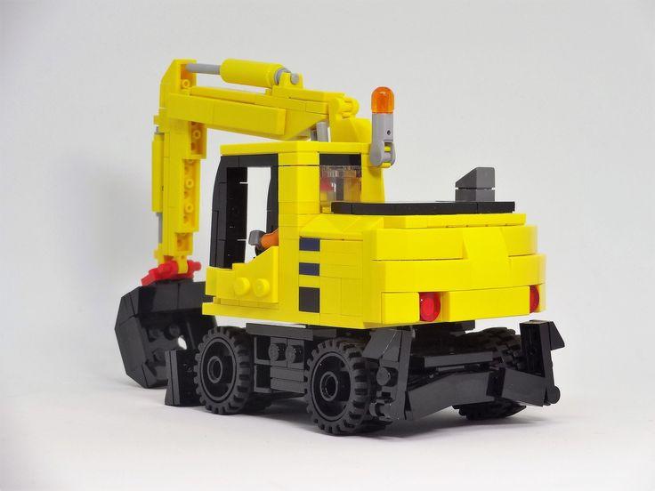 Lego Wheeled Excavator Komatsu PW160-10 | by y.akimeshi