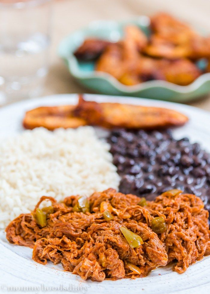 Venezuelan Shredded Beef | mommyshomecooking.com | Carne esmechada, ingrediente del pabellón venezolano