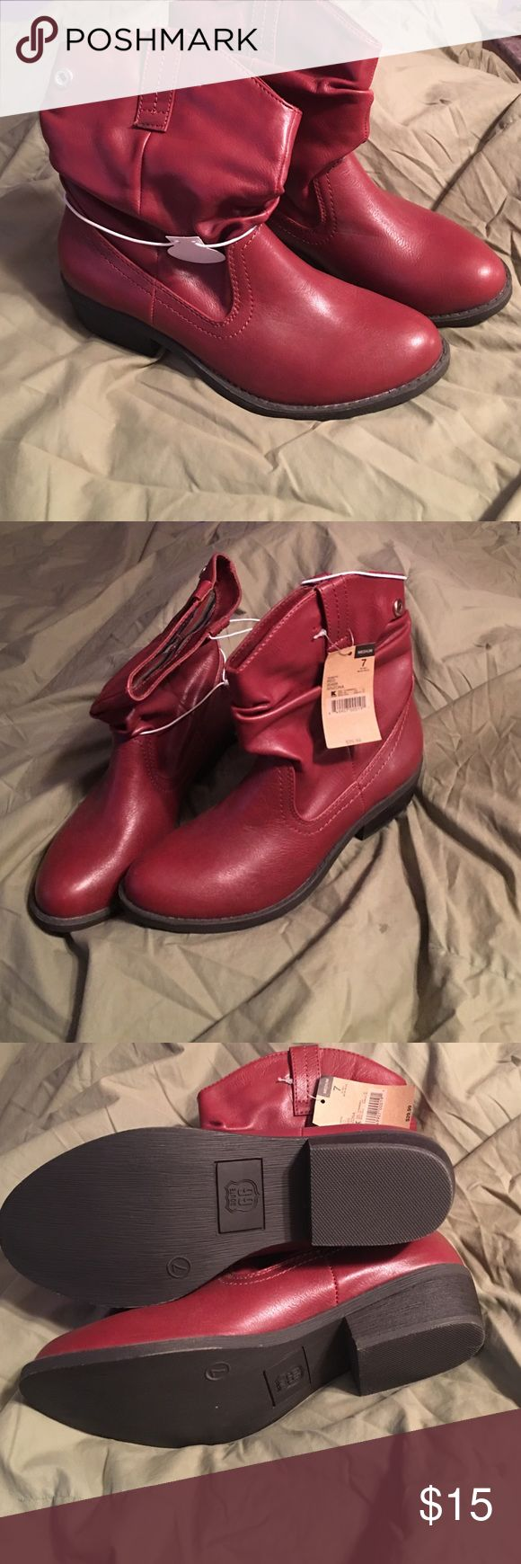 NWT Size 7 cowboy-like short boots Gorgeous brand new red cowboy like short boots. Route 66 Shoes Ankle Boots & Booties
