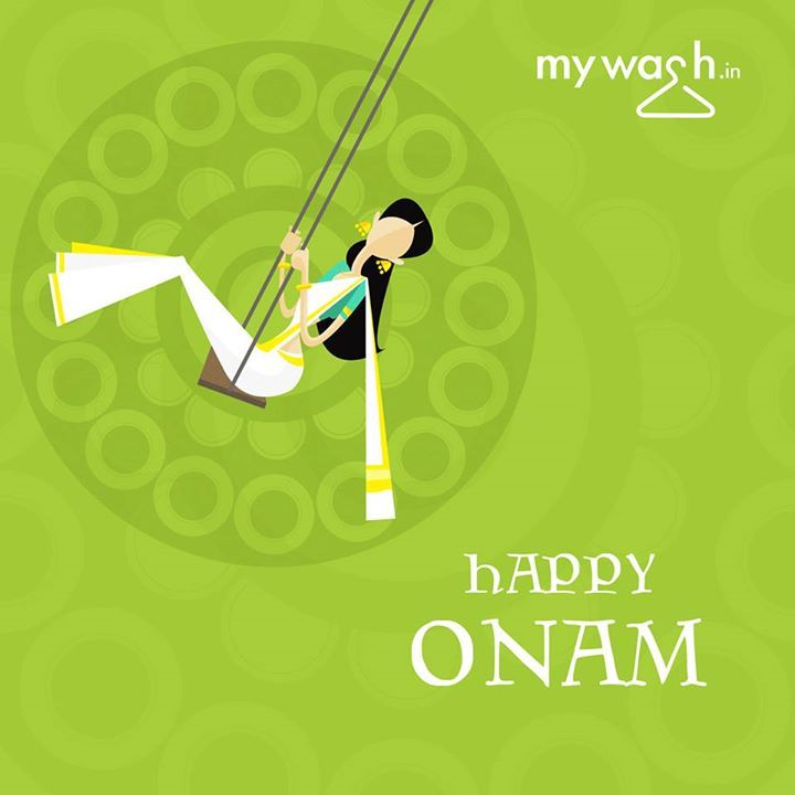 Happy Onam! This Onam, do make some time and try out Onam Sadya with your mallu friends. We got your laundry covered! - www.mywash.in