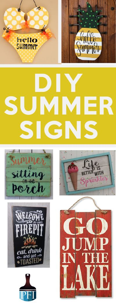 Make your own wooden signs with some of my favorite fun summer inspiring ideas! Grab your tole paints and a slab of wood ladies!