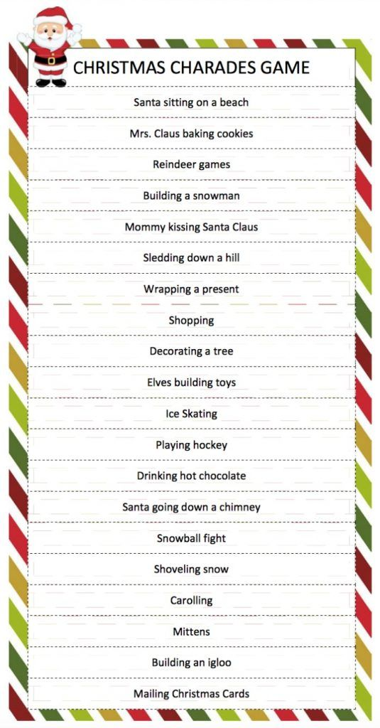 Office Christmas Party Games Ideas Part - 26: Christmas Charades Game