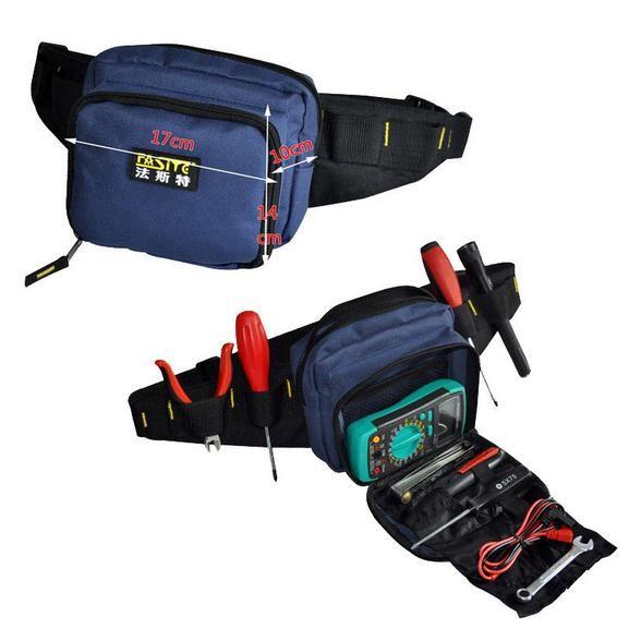 FASITE Alat KIT PINGGANG BELT Bag Organizer Profesional Listrik Alat Pouch Biru