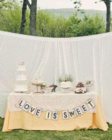 "I'm going to make a ""Love is Sweet"" sign and I will"