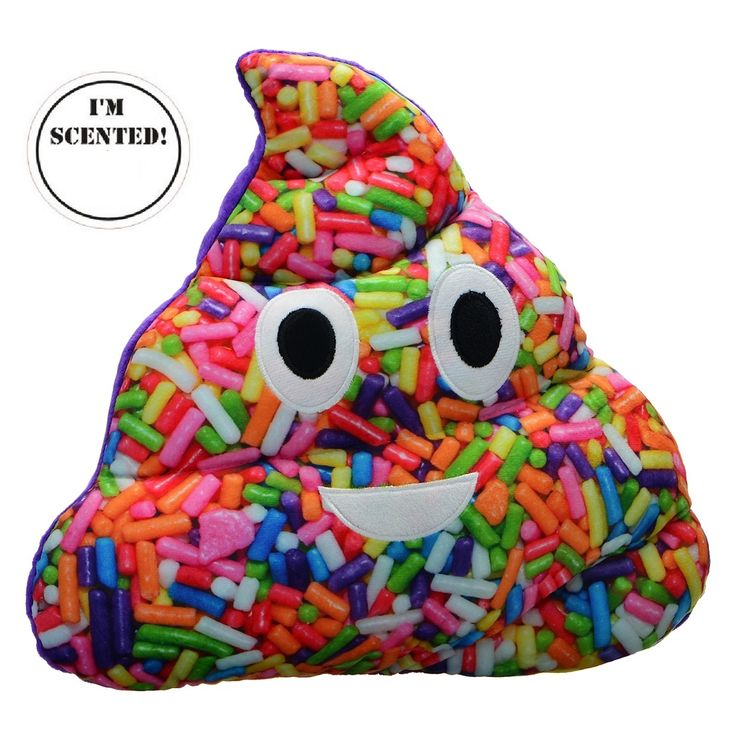 sprinkle poop emoji pillow