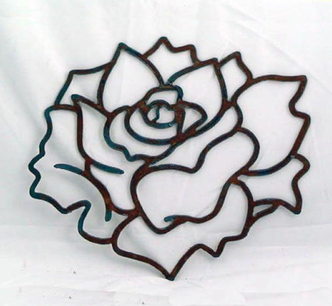 Plasma Cut Metal Designs | ... Black powder-coated finish metal cut design of a Leaf Cutout Design