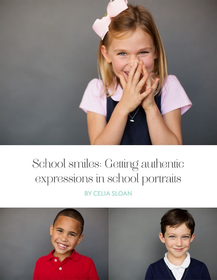 Getting natural smiles can therefore be a challenging job when photographing school portraits. Yet, spending time and care to connect with each child will help you capture authentic expressions.