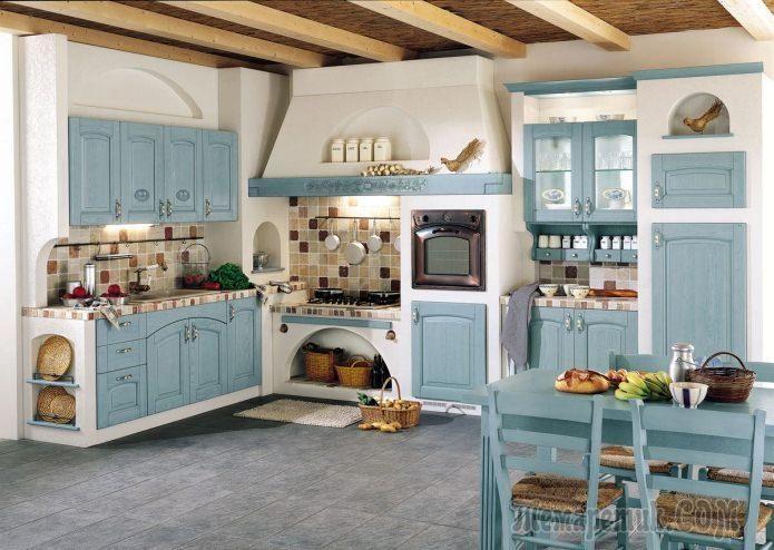 Интерьер кухни в стиле кантри: особенности, фото