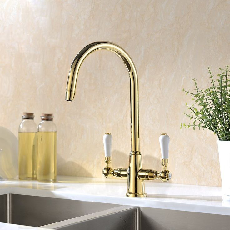 gicasa traditional classic lead free kitchen sink taps monobloc solid brass swivel. Interior Design Ideas. Home Design Ideas