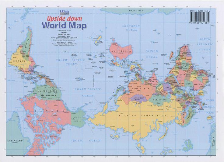 Wereld kaart ondersteboven!