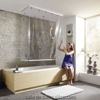 les 25 meilleures id es concernant deux rideaux de douche. Black Bedroom Furniture Sets. Home Design Ideas