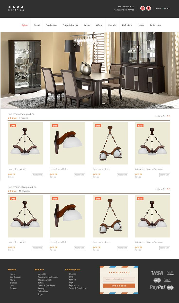 ZAZA Lightning - E-Commerce Layout   For more please contact me @:  tudor.alin.st@gmail.com