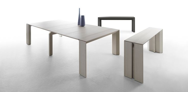 Bauline extensible tables for luxury hospitality and design homes