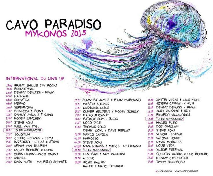 Cavo Paradiso line-up 2015