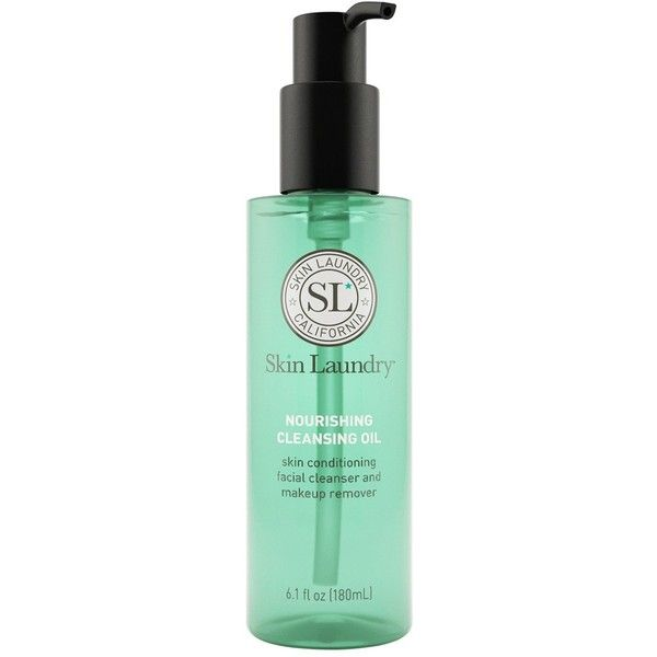 SKIN LAUNDRY Nourishing Cleansing Oil 180ml found on Polyvore featuring beauty products, skincare, face care, face cleansers, antibacterial face wash, moisturizing face wash, moisturizing facial cleanser and hydrating face wash