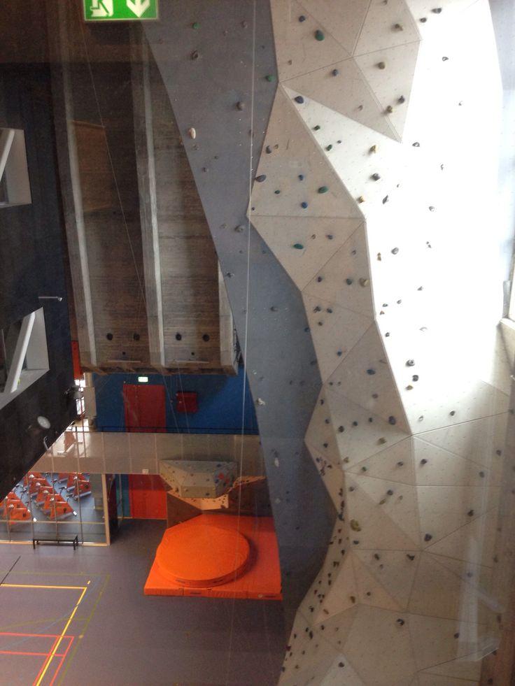 Indoor Climbwall in Nordkraft Aalborg, Denmark
