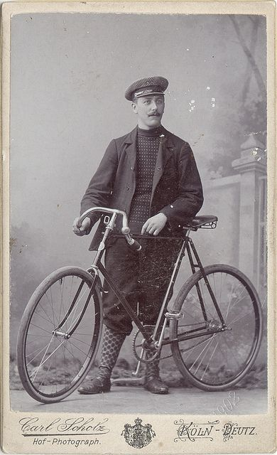 Man with his Bicycle 1902 Flickr.com