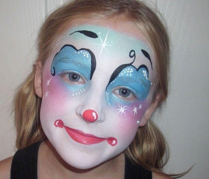 die besten 25 fasching clowngesicht schminken ideen auf pinterest clownsgesicht horror. Black Bedroom Furniture Sets. Home Design Ideas