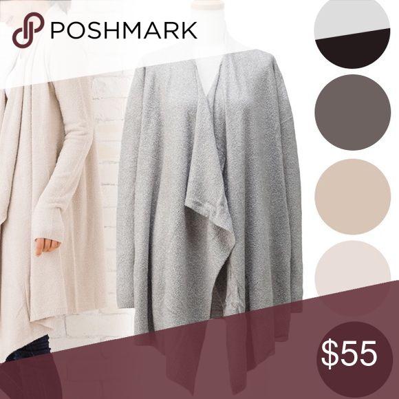 NWOT Grey Barefoot Dreams Cardigan Size S/M NWOT grey NO TRADES Barefoot Dreams Sweaters Cardigans