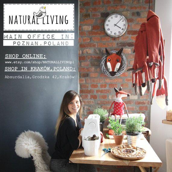 TOADSTOOL LADY FOX cute and sweet handmade fox by NATURALLIVINGpl