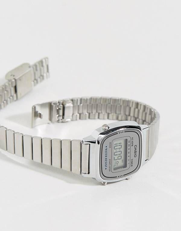 Casio Silver Mini Digital Watch LA670WEA-7EF